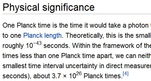 planck time 43